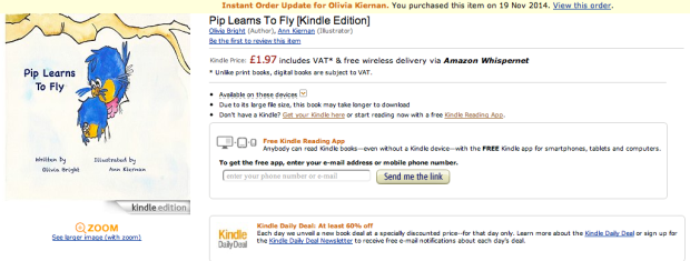 Click the image to be taken to Pip Learns to Fly on Amazon!